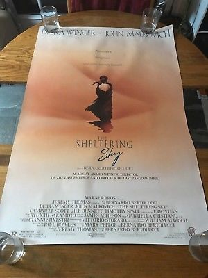 THE SHELTERING SKY  - VINTAGE MOVIE POSTER!