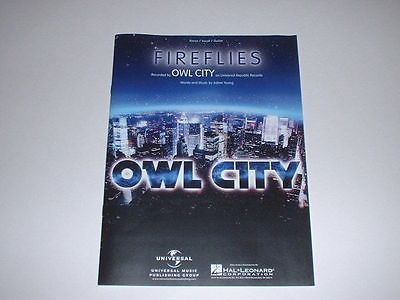 Fireflies by Owl City, Words and Music by Adam Young for Piano/Vocal/Guitar