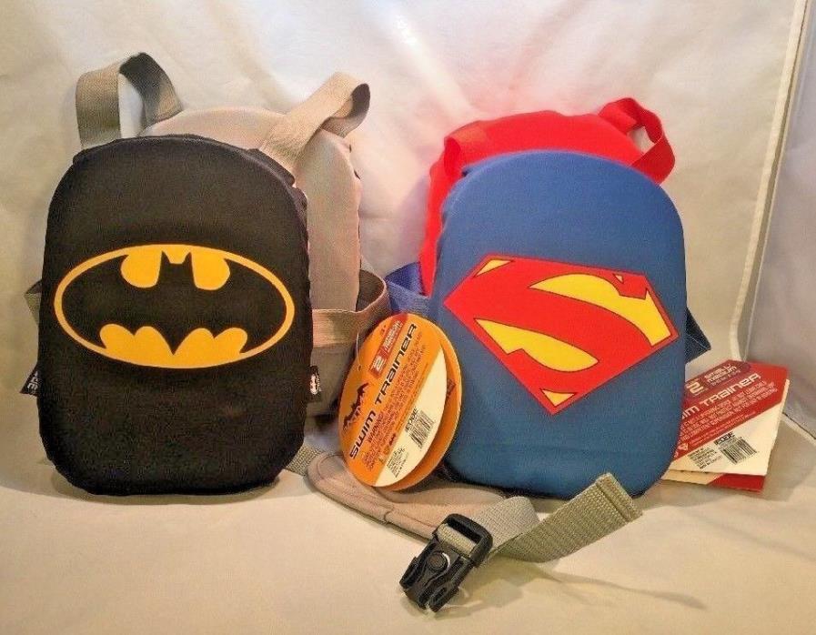 Justice League Edge Superman Batman Swim Trainer Ages 3+ Swim Level 2 20-33 lbs