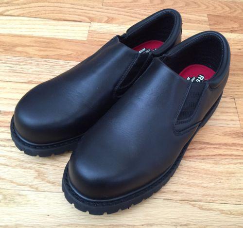 Skechers Work Mens 7.5 Wide Cottonwood Goddard Slip Resistant Black 77046EW