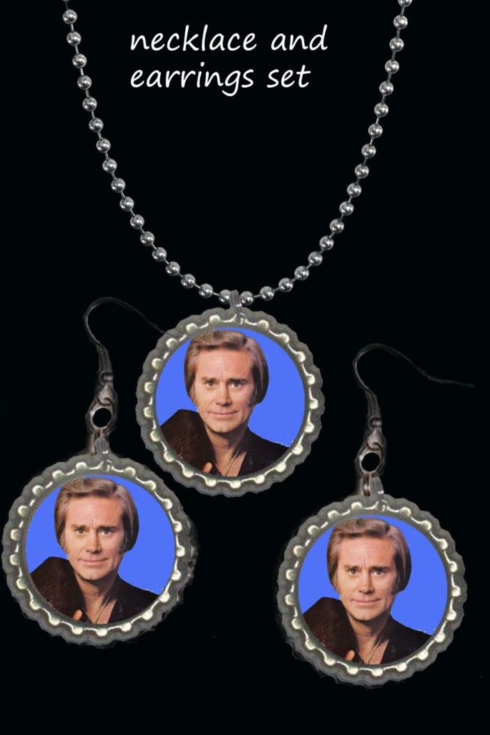 George Jones earring Earrings and necklace set great gift country music