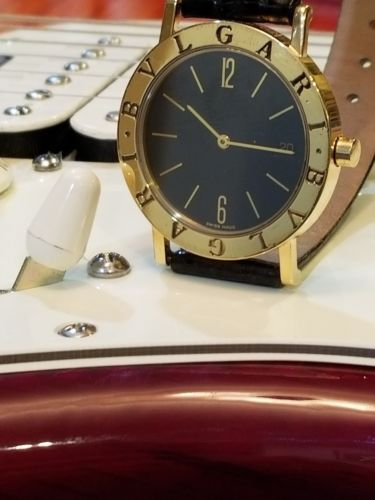 Bulgari Watch Swiss Made Luxury 18K Solid Gold W/Date Unisex, Quartz