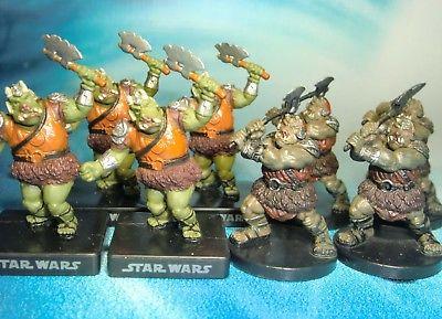 Star Wars Miniatures Lot  Gamorrean Guard Rebel Storm !!  s97