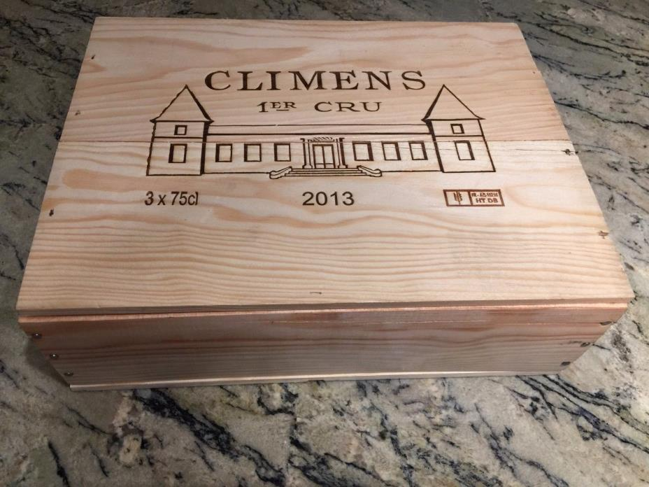 CH. CLIMENS 2013 SAUTERNES REGION FRENCH WOOD WINE CRATE 13