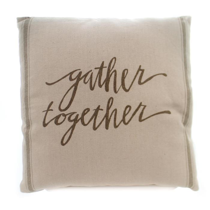 Home Decor GATHER TOGETHER PILLOW Fabric Thanksgiving 23930