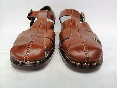 Mens Cole Hann country brown leather sandals size 10 D