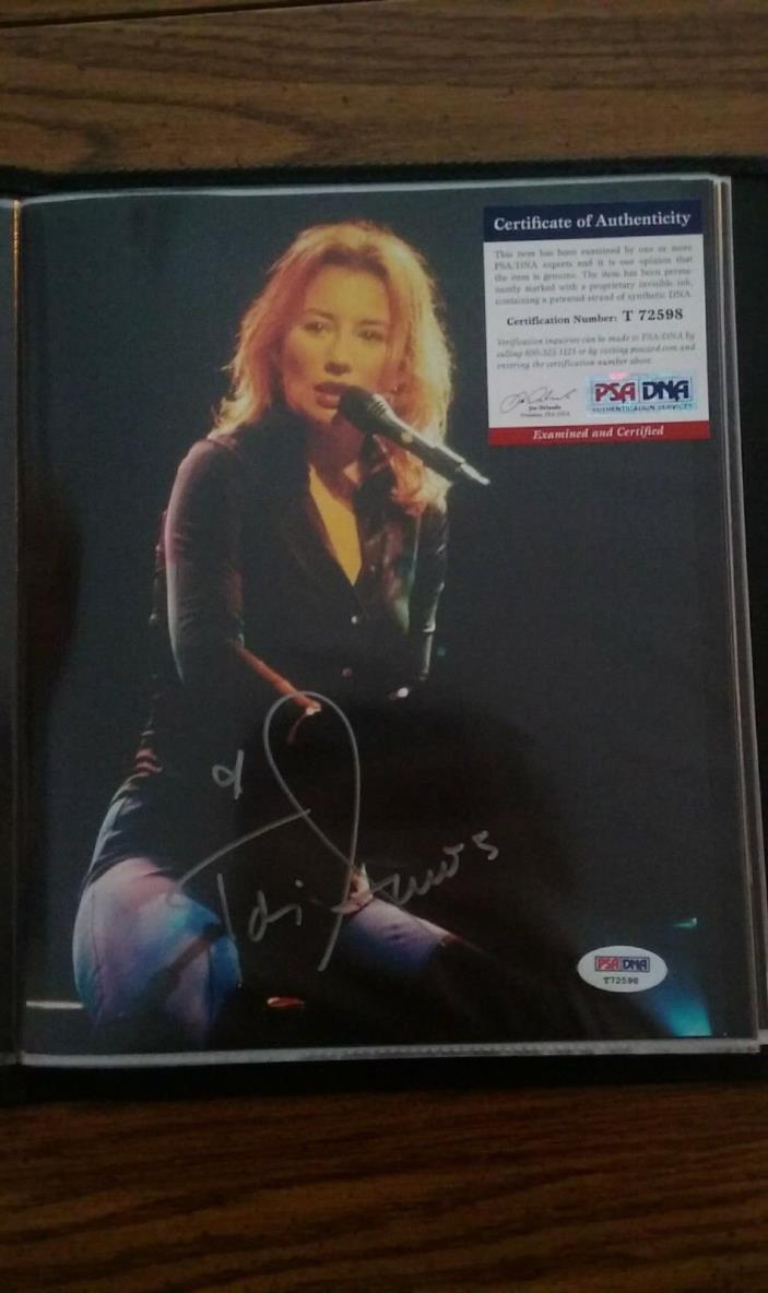 Tori Amos Autographed 8x10 With PSA Certification