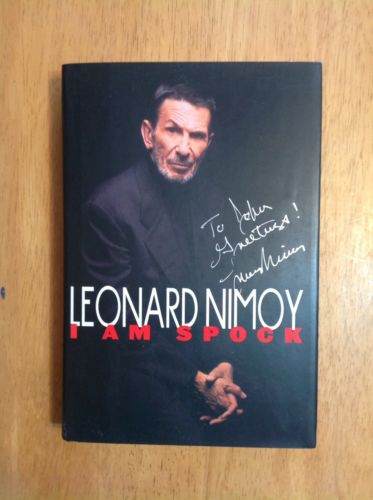 I Am Spock, Leonard Nimoy, 1st Edition Signed star trek