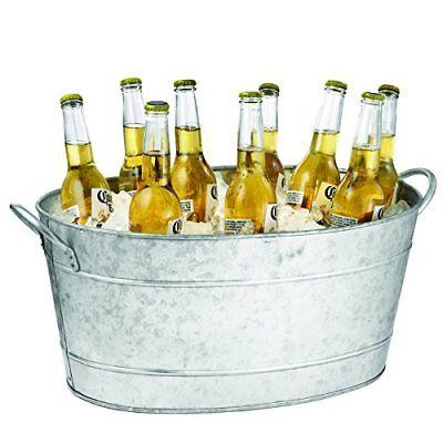 TableCraft Galvanized Beverage Tub 5.5 Gallon Ice Buckets Wine Coolers Bar Tools