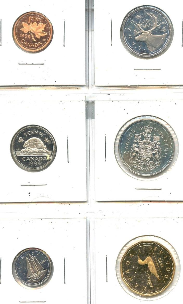 1994 Canadian Mint Set in 2by2's