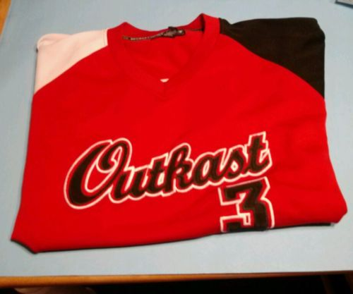 Outkast 3000 Red / Black Polyester. Jersey Size XXL