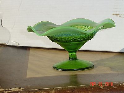 Vintage Antique 1906 Northwood Opalescent Pearl & Scales Compote