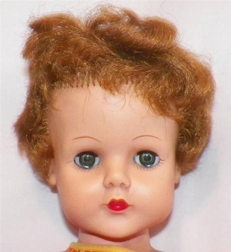 Vintage Supermarket Doll Vinyl 24 inch 7-AE Arrow in Diamond 1950s Fashion As Is