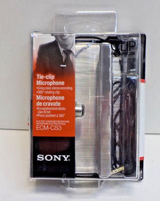 SONY ECM-CS3 Clip Microphone Electret Condenser Stereo
