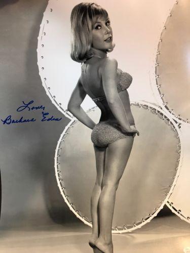 Autographed Barbara Eden 16-20 Photo Bikini Pose JSA Certified Inscribed Love