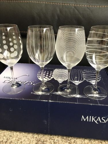 Mikasa CHEERS Red Wine Glasses (4) NIB 24oz