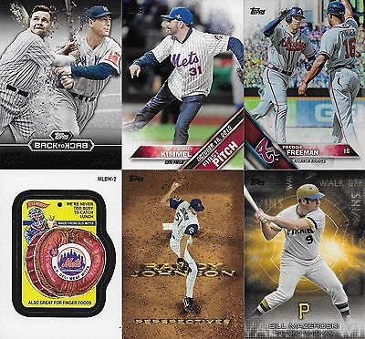 2016 Topps Series 1+2 Pick 20 Inserts First Pitch,Foil,Back to Back,Perspectives
