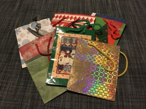 Lot of 15 Small  Christmas Christmas/Holiday bags