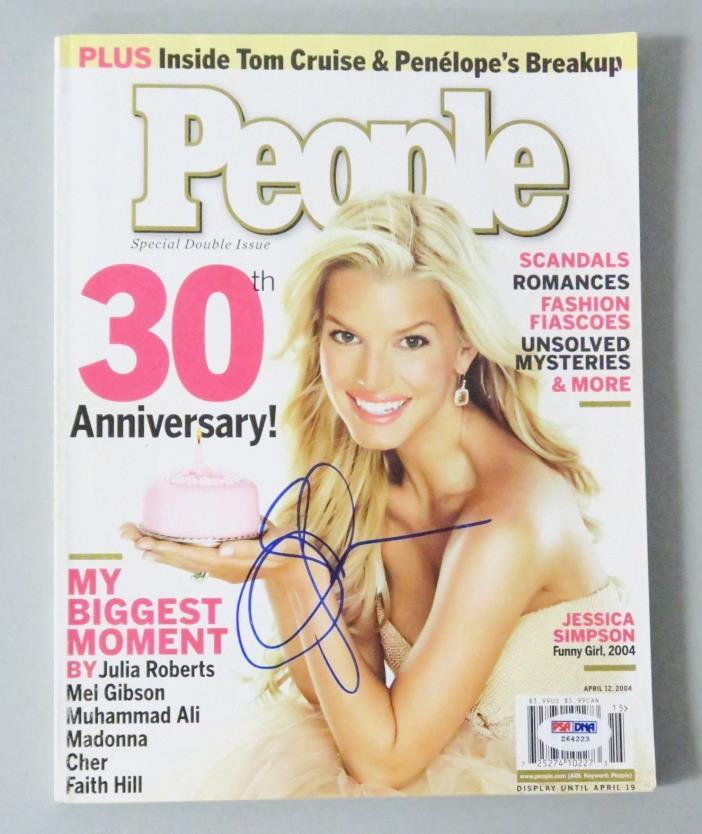 Jessica Simpson Signed People Magazine April 2004 Autographed  COA PSA/DNA