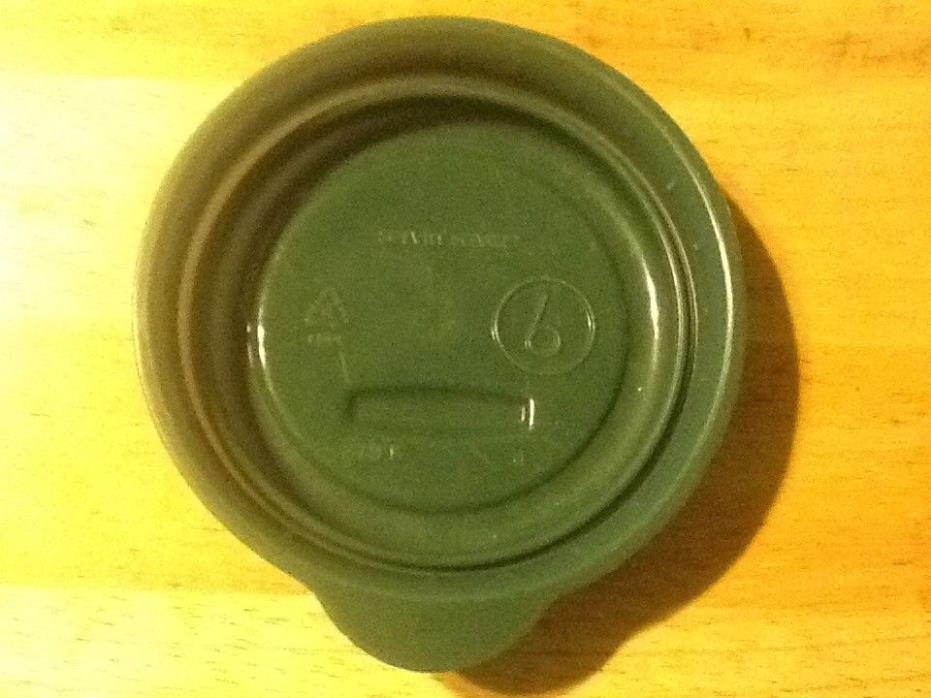 Vintage Rubbermaid Servin Saver #6 lid only fits 1 cup container green storage