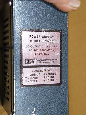 POWER SUPPLY MODEL UNI-88 FOR OLD SCHOOL CB'S  AND HAM RADIOS