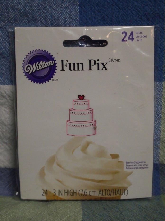 WILTON THREE TIER CAKE FUN PIX 24ct.
