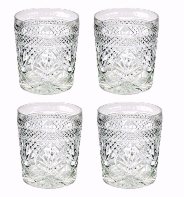 4 Luminarc Antique Clear On The Rocks Glasses 10.5oz CRISTAL D'ARQUES-DURAND EUC