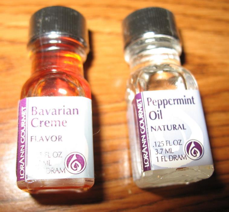 LorAnn Gourmet Bavarian Creme Flavor Pepermint Oil EXTRACTS 1 fl Dram Lot of 2
