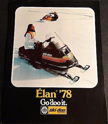 1978 SKI-DOO ELAN SNOWMOBILE SALES BROCHURE SINGLE PAGE 2 SIDED  (511)
