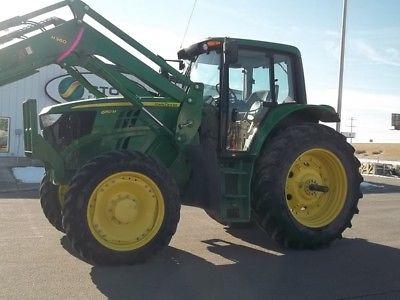 2015 John Deere 6150M Tractor Loaders