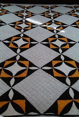 Cheddar and Black Quilt - Bold and Vibrant