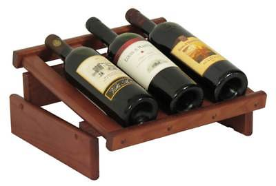 3-Bottles Wine Display in Mahogany Finish [ID 3175927]