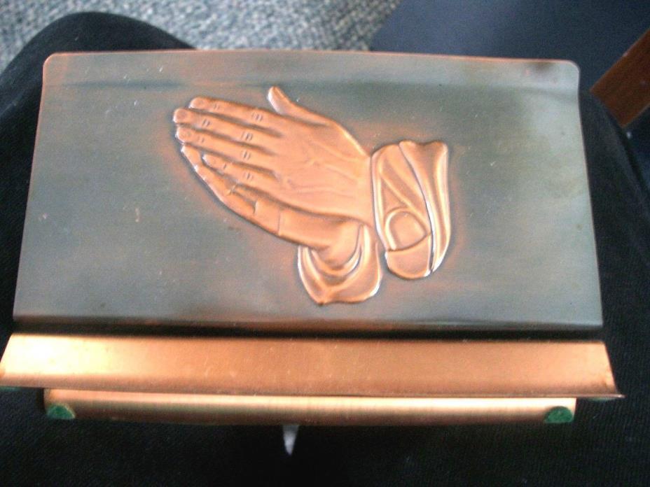 Coppercraft Guild  Praying Hands Copper Letter Holder