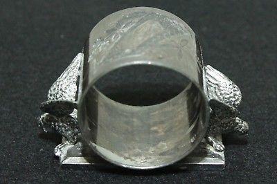 Antique Silver Plate Napkin Ring - 2 Birds - Rogers Smith & Co. Meriden Conn.
