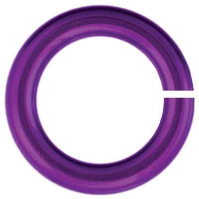 Anodized Aluminum Jumprings 3mm 100/Pkg Violet 840657112509