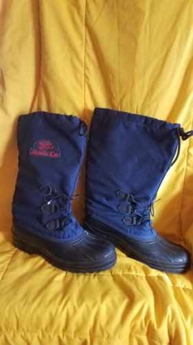 Arctic Cat snowmobile winter snow boots.women's size 10..Very Nice Navy Blue!