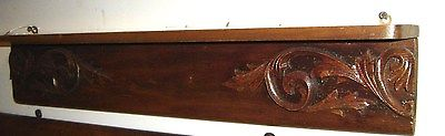 Antique Walnut Shelf with Applied Carving. 8349