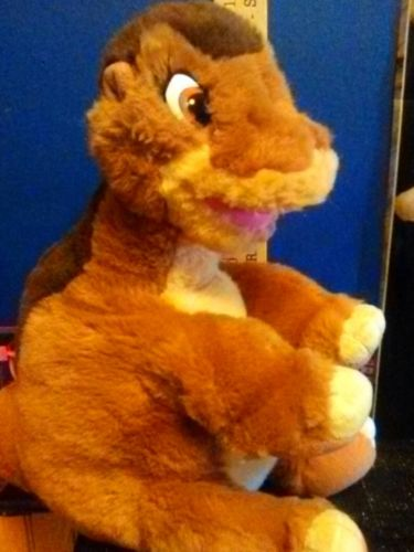 little big foot USED land before time dinosaur PLUSH 1988 TAG POOR STAINED