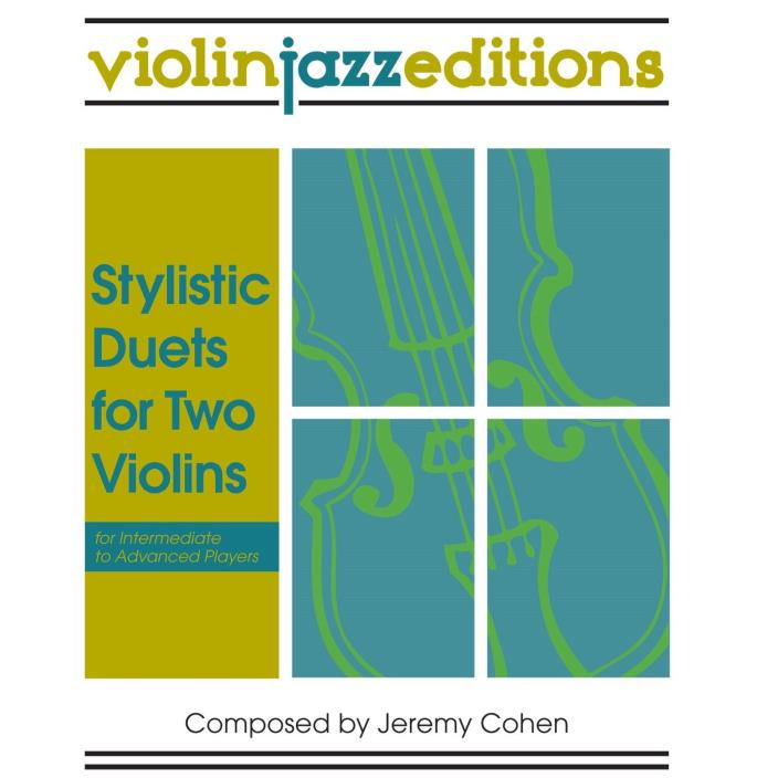 Stylistic Duets for Two Violins / Jeremy Cohen / Very Good Condition / Fun Jazz