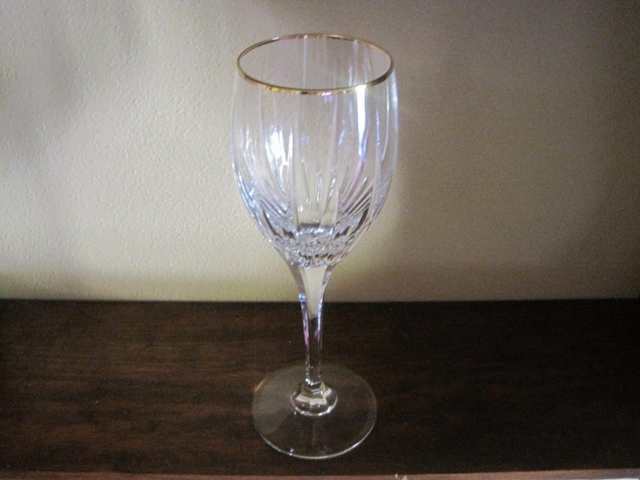 11 oz. Mikasa Golden Lights Crystal Water Glass