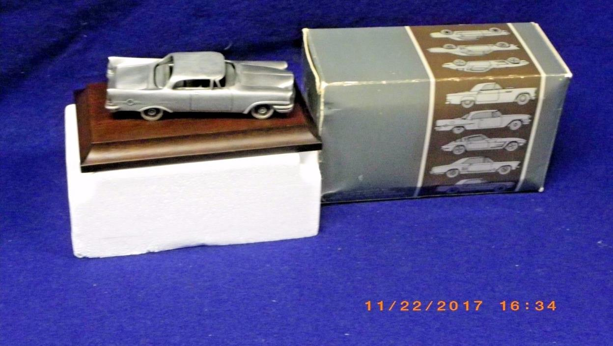 The 1984 AVON Pewter Car Collection Featuring 1957 Chrysler 300C Mint in box