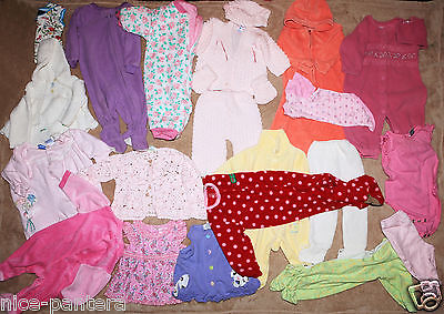 19 items Huge lot of Girls Clothes Baby Girl 0m 3m6m 9m  months Toddler