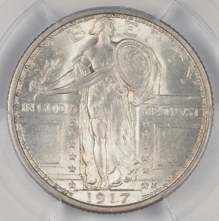 1917 TYPE 1 STANDING LIBERTY QUARTER PCGS MS65FH