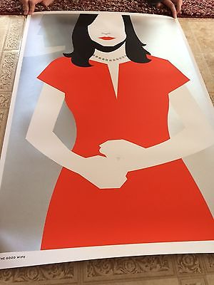 The Good Wife by Ty Mattson Signed Silk Screen Print - 24 x 36 Alicia Florrick