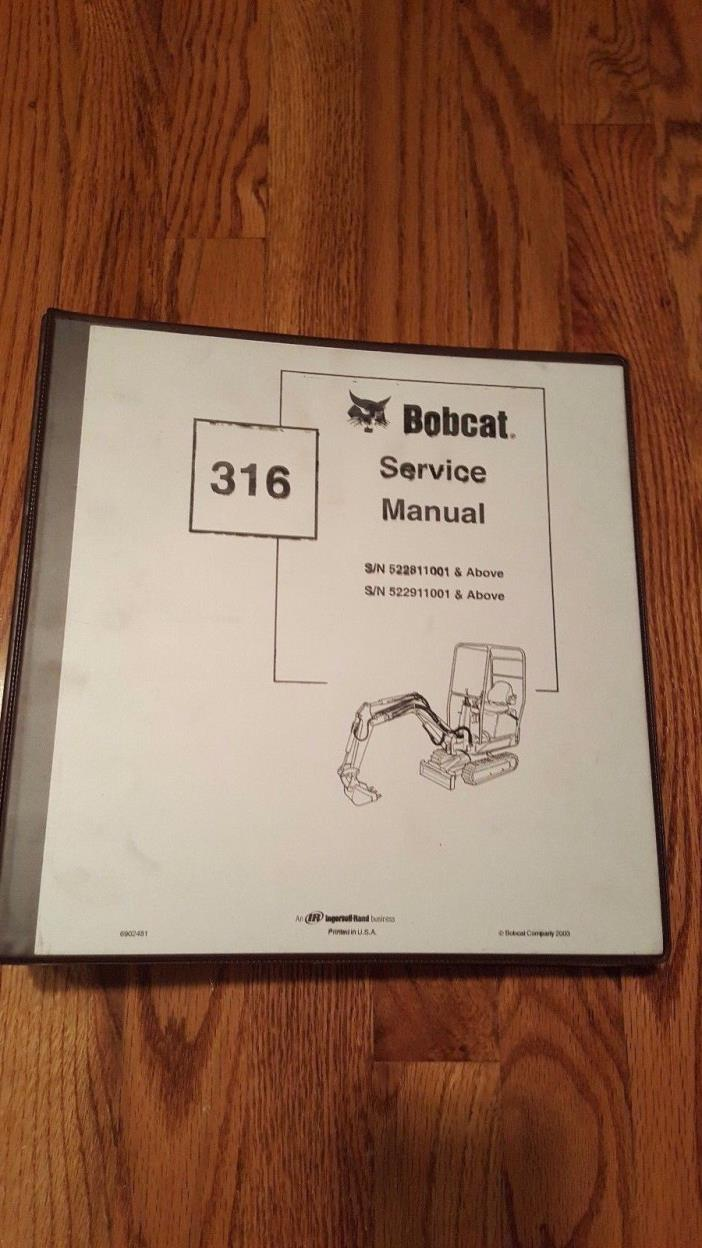 Bobcat 316 Service Manual w/ Binder