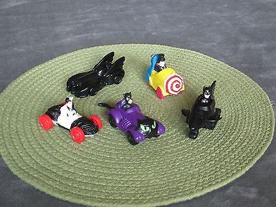 5 McDonald Batman Toys Cat Woman Penguin 2-Face Batman Launcher&Mobile 1991