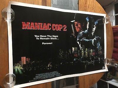 MANIAC COP 2 -  - VINTAGE MOVIE POSTER!