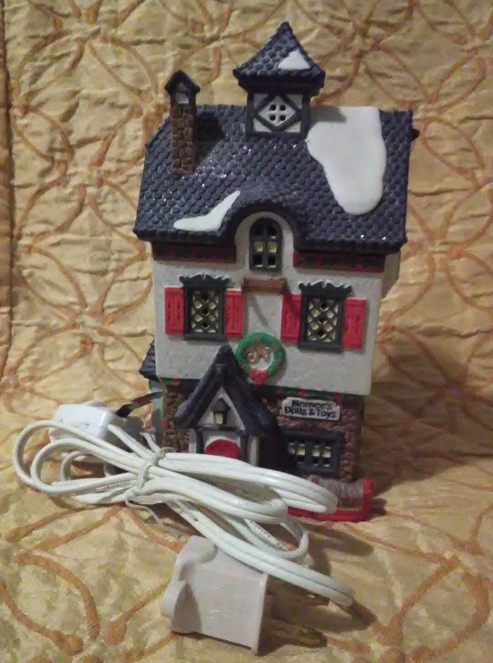 Dept 56 Lighted Neenee's Dolls and Toys Building From North Pole Series 1991