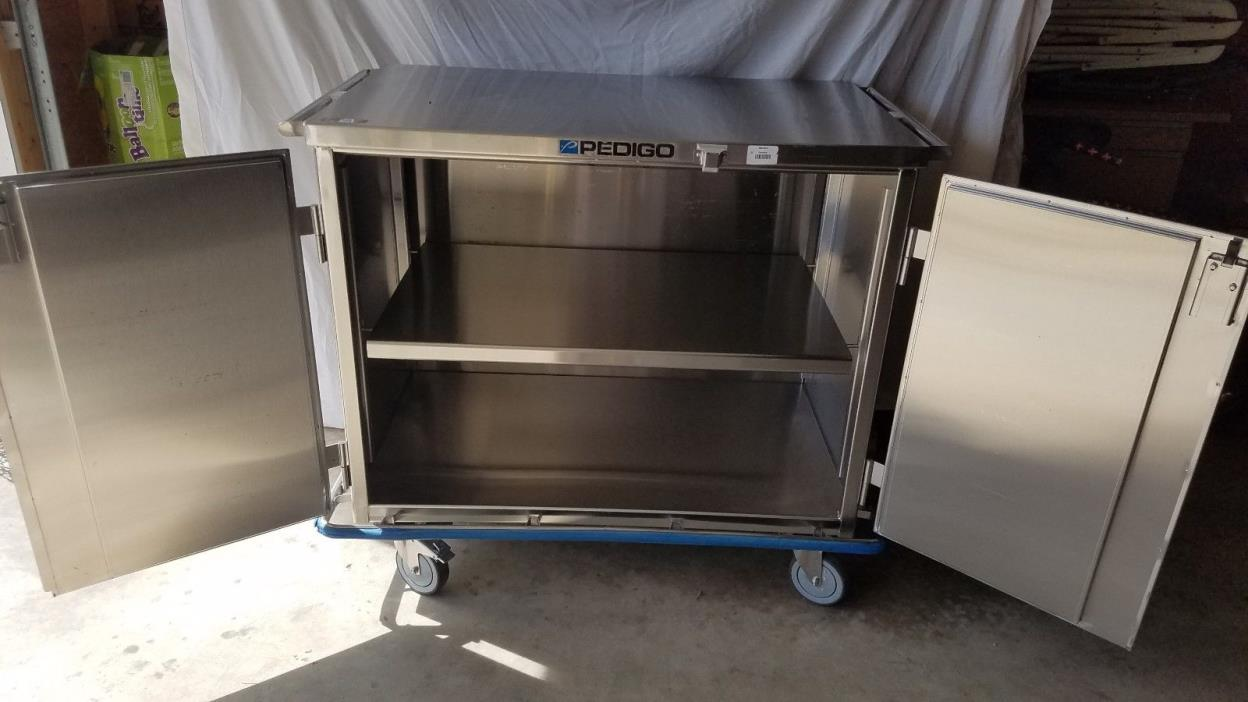 Pedigo Double Door Stainless Steel Surgical Case Cart Medical Cart