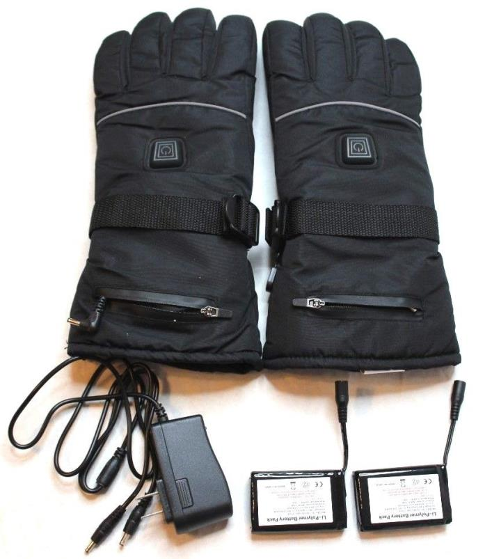 Rechargeable Battery Heated Gloves 3 Heat 7.4V X-Large XL Black